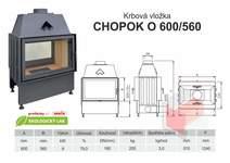 Krbová vložka CHOPOK 600 560 O oboustranná