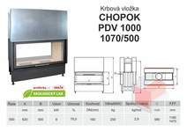 Krbová vložka CHOPOK O 1000 (1070) 500 VD  dvojitý výsuv, oboust