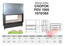 Krbová vložka CHOPOK O 1000 (1070) 560 VD  dvojitý výsuv, oboust