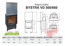 Krbová vložka BYSTRÁ VD 500 660 - výsuvné dveře