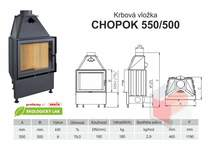 Krbová vložka CHOPOK 550 500