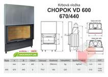 Krbová vložka KOBOK CHOPOK 600 (670) 450 VD s výsuvem