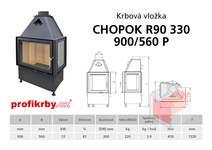 Krbová vložka CHOPOK R90x330 900 560 - Rohová - Dvoje dveře - Pr