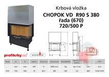 Krbová vložka CHOPOK VD R90Sx330 (380) 670 (720) 500 - Rohová -