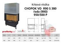 Krbová vložka CHOPOK VD R90Sx330 (380) 900 (950) 500 - Rohová -