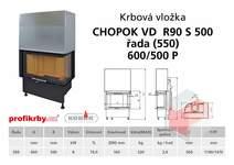 Krbová vložka CHOPOK VD R90Sx450 (500) 550 (600) 500 - Rohová -