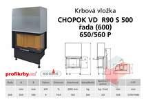 Krbová vložka CHOPOK VD R90Sx450 (500) 600 (650) 560 - Rohová -
