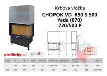 Krbová vložka CHOPOK VD R90Sx450 (500) 670 (720) 500 - Rohová -