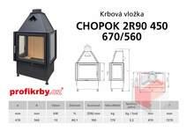 Krbová vložka CHOPOK 2R90x450 670 560 - Třístranná - troje dveře