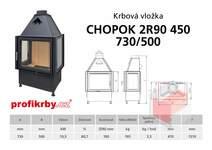 Krbová vložka CHOPOK 2R90x450 730 500 - Třístranná - troje dveře