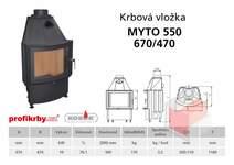 Krbová vložka KOBOK - obloukové sklo MÝTO R550 670/510