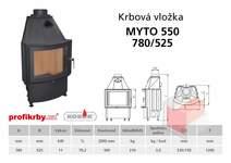Krbová vložka KOBOK - obloukové sklo MÝTO R550 780/570