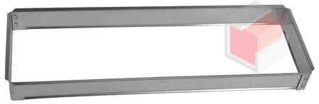 Vložka ZADNÍ RÁMEČEK 17x49 pro krbovou mřížku 170x490  mm