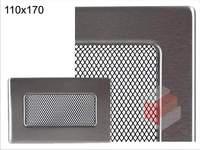 Krbová mřížka broušený nerez N 110x170 Kratki