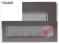 Krbová mřížka broušený nerez N 110x420 Kratki