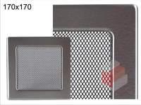 Krbová mřížka broušený nerez N 170x170 Kratki.