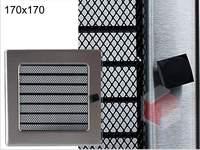Krbová mřížka broušený nerez žaluziová NZ 170x170 Kratki.