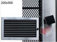Krbová mřížka broušený nerez žaluziová NZ 220x300 Kratki.