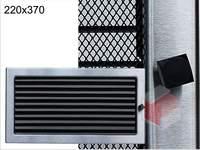 Krbová mřížka broušený nerez žaluziová NZ 220x370 Kratki