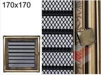 Krbová mřížka rustikální s žaluzií RZ 170x170
