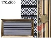 Krbová mřížka rustikální s žaluzií RZ 170x300