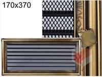 Krbová mřížka rustikální s žaluzií RZ 170x370