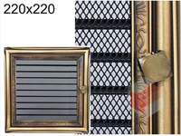 Krbová mřížka rustikální s žaluzií RZ 220x220