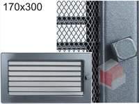 Krbová mřížka grafitová s žaluzií GZ 170x300