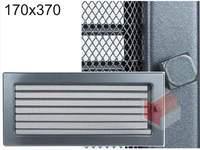 Krbová mřížka grafitová s žaluzií GZ 170x370
