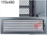 Krbová mřížka grafitová s žaluzií GZ 170x490