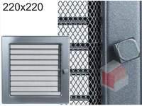 Krbová mřížka grafitová s žaluzií GZ 220x220