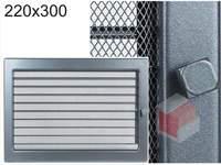 Krbová mřížka grafitová s žaluzií GZ 220x300