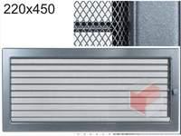 Krbová mřížka grafitová s žaluzií GZ 220x450