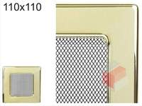 Krbová mřížka pozlacená 110x110