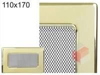 Krbová mřížka pozlacená 110x170