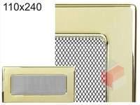 Krbová mřížka pozlacená 110x240