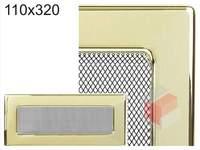 Krbová mřížka pozlacená 110x320