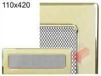 Krbová mřížka pozlacená 110x420
