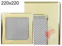 Krbová mřížka pozlacená 220x220