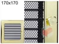 Krbová mřížka pozlacená s žaluzií GZ 170x170