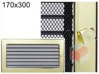 Krbová mřížka pozlacená s žaluzií GZ 170x300
