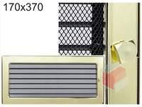 Krbová mřížka pozlacená s žaluzií GZ 170x370