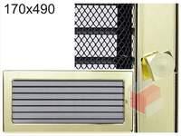 Krbová mřížka pozlacená s žaluzií GZ 170x490