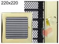 Krbová mřížka pozlacená s žaluzií GZ 220x220