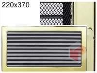 Krbová mřížka pozlacená s žaluzií GZ 220x370