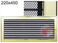 Krbová mřížka pozlacená s žaluzií GZ 220x450