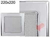 Krbová mřížka poniklovaná 220x220