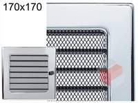 Krbová mřížka poniklovaná s žaluzií GZ 170x170