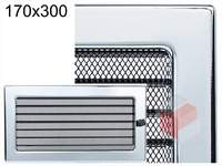 Krbová mřížka poniklovaná s žaluzií GZ 170x300