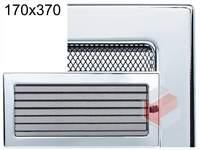 Krbová mřížka poniklovaná s žaluzií GZ 170x370